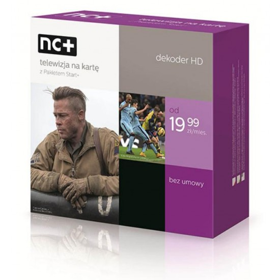 Telewizja Na Kartę NC+  Dekoder ADB 2850 1 miesiąc TV FREE